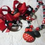 Minnie Mouse Inspired Neckl..